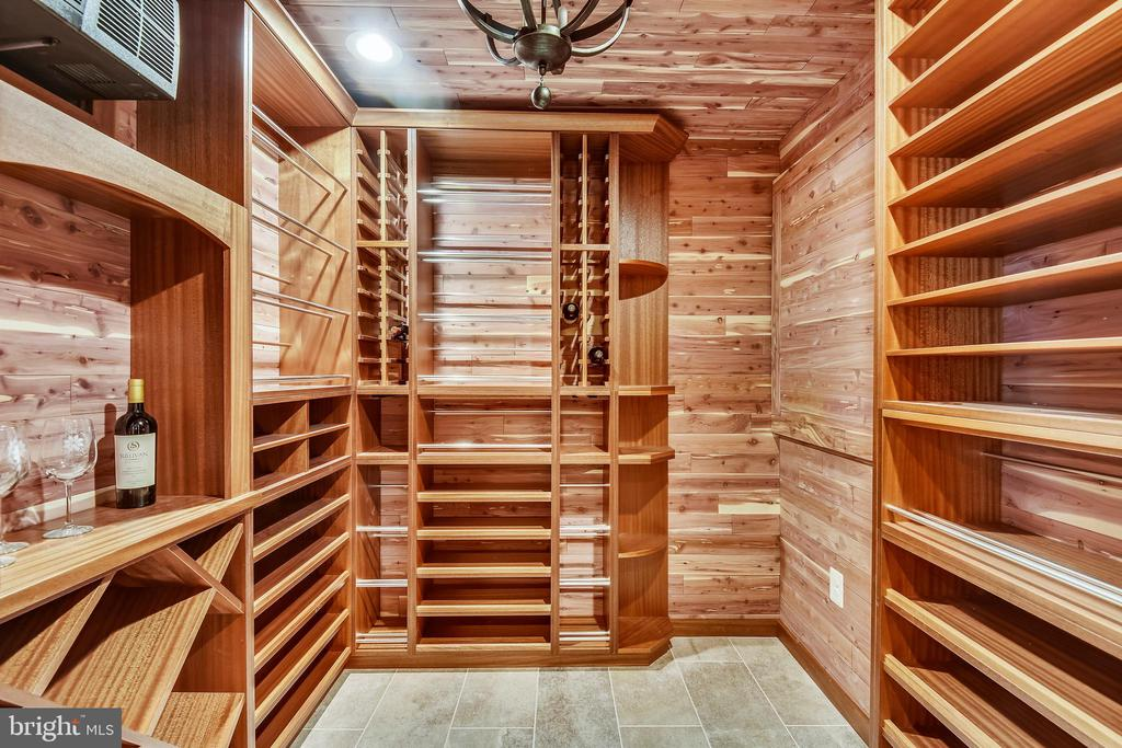 The  nearly 500 bottle wine cellar! - 301 NIBLICK DR SE, VIENNA