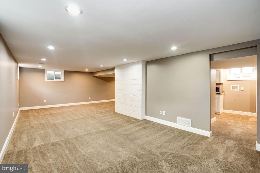 Lower level media room or au pair suite - 4324 FERRY LANDING RD, ALEXANDRIA