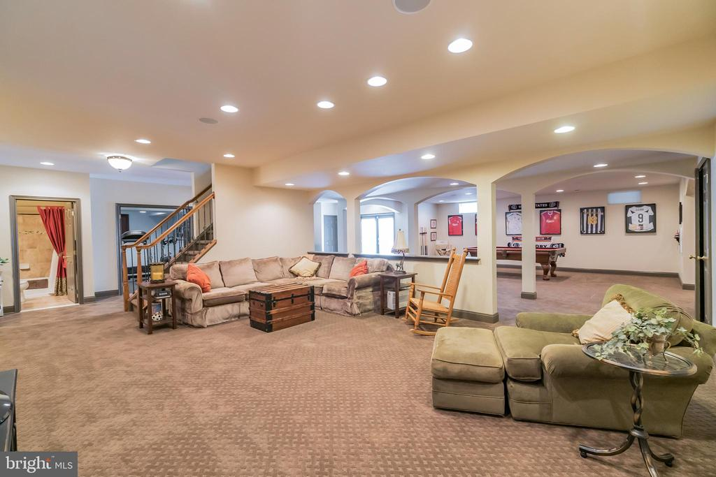 Rec room w plenty of room to entertain - 43130 MEADOW GROVE DR, ASHBURN
