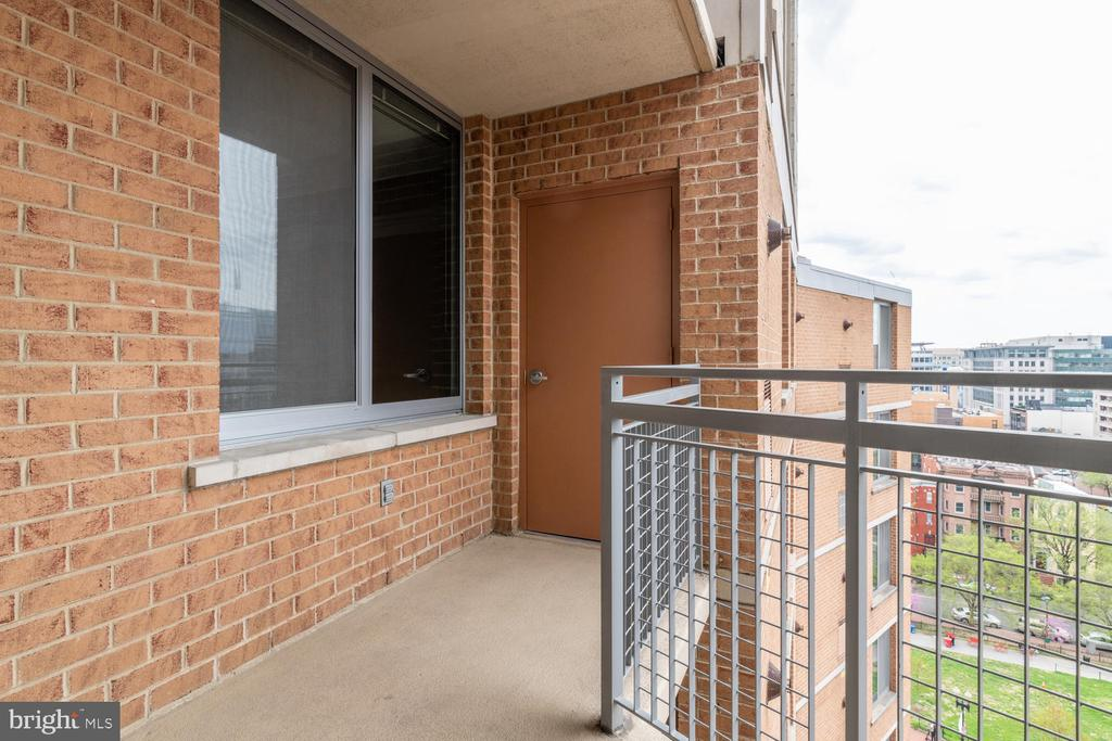 Private Balcony - 555 MASSACHUSETTS AVE NW #1201, WASHINGTON