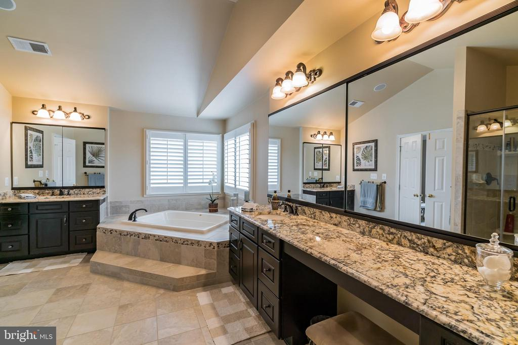 Master Bathroom with upgraded Granite and cabs - 43130 MEADOW GROVE DR, ASHBURN