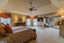 Master Bedroom with sitting room - 43130 MEADOW GROVE DR, ASHBURN