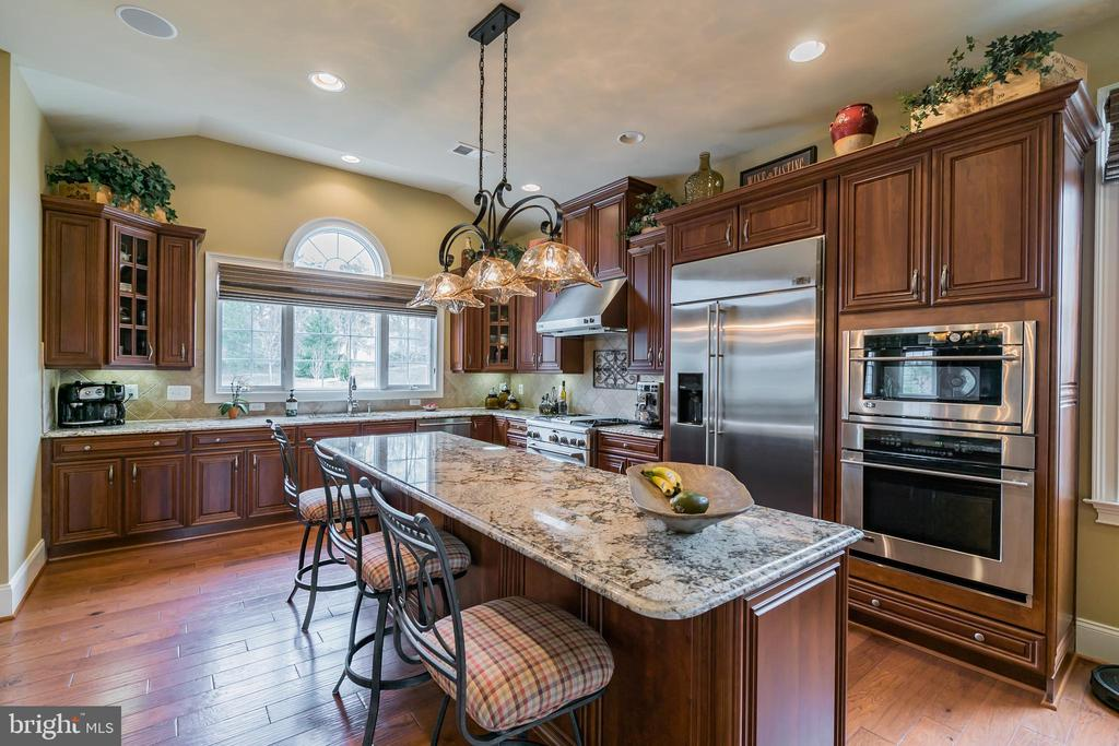Gourmet Kitchen, upgraded granite, Cabs and SS App - 43130 MEADOW GROVE DR, ASHBURN