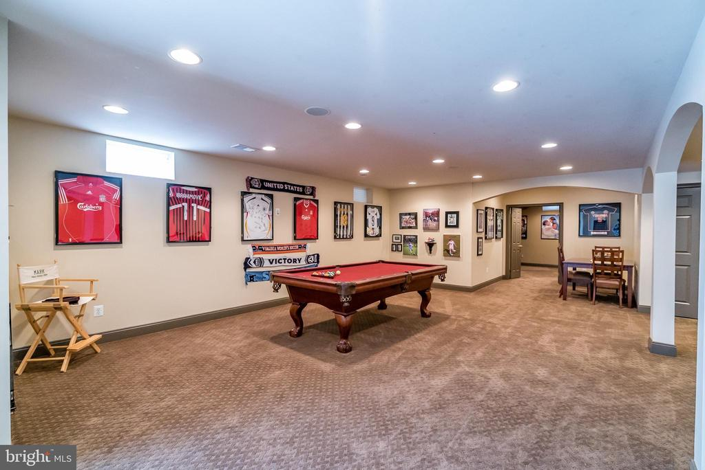 Rec room w plenty of room to play - 43130 MEADOW GROVE DR, ASHBURN