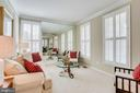 Living room with plantation shutters on main level - 25292 RIPLEYS FIELD DR, CHANTILLY