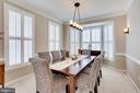 Formal dining room - 25292 RIPLEYS FIELD DR, CHANTILLY