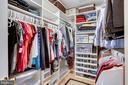 Custom walk-in closet - 25292 RIPLEYS FIELD DR, CHANTILLY