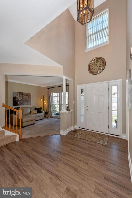 2 story foyer - 9331 HILLSBOROUGH TER, FREDERICK