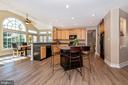 open kitchen with room for seating - 9331 HILLSBOROUGH TER, FREDERICK