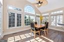 beautiful sun room off kitchen - 9331 HILLSBOROUGH TER, FREDERICK