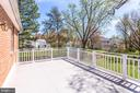 Huge Balcony off Upper Level Master Suite - 1745 ANDERSON RD, FALLS CHURCH