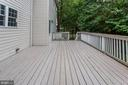 Large deck for entertaining - 8643 WOODWARD AVE, ALEXANDRIA