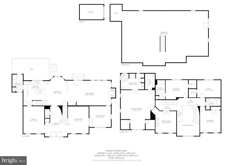 House layout - 8643 WOODWARD AVE, ALEXANDRIA