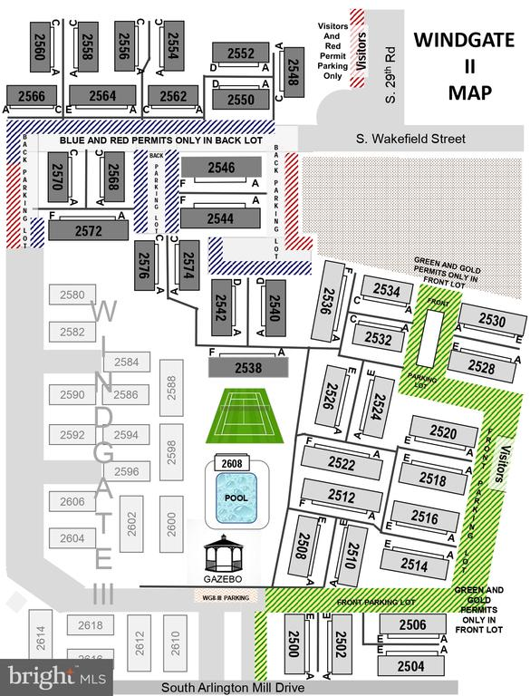 Map of Windgate II community - 2552-C S ARLINGTON MILL DR #2, ARLINGTON