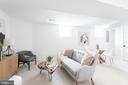 Lower level rec room, full bed/bath & storage - 5123 45TH ST NW, WASHINGTON