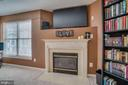 Upstairs Den  with Gas Fireplace - 8875 BENCHMARK LN, BRISTOW