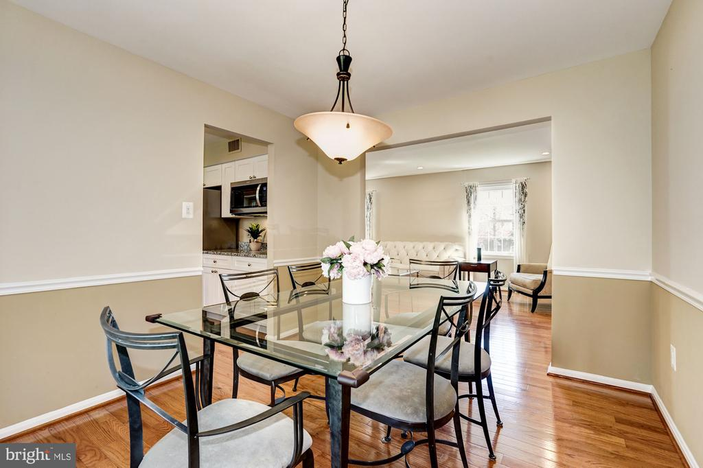 Dining room flows into living room & kitchen - 8515 ORDINARY WAY, ANNANDALE