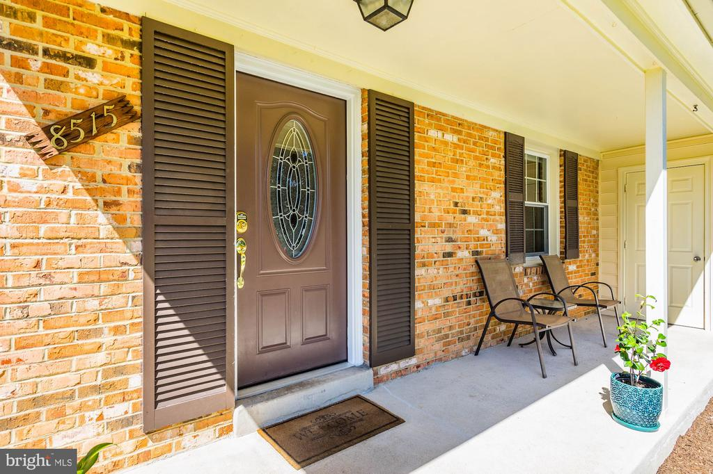Covered porch to enjoy w/ access 2-car garage - 8515 ORDINARY WAY, ANNANDALE
