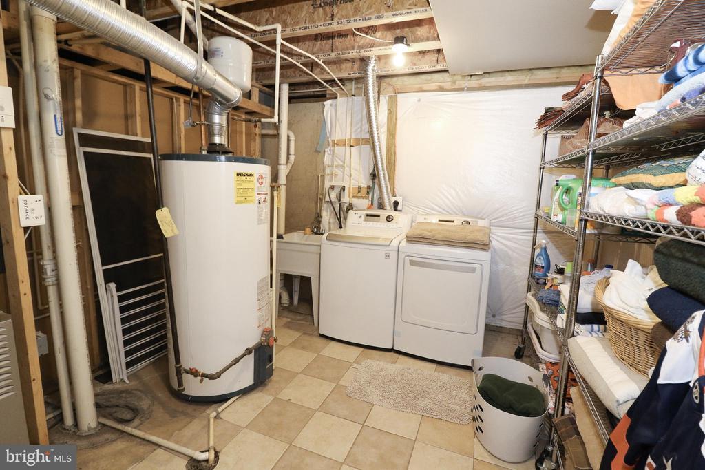 Lower Level Washer/Dryer Hookups & Utilites - 43308 CLARECASTLE DR, CHANTILLY