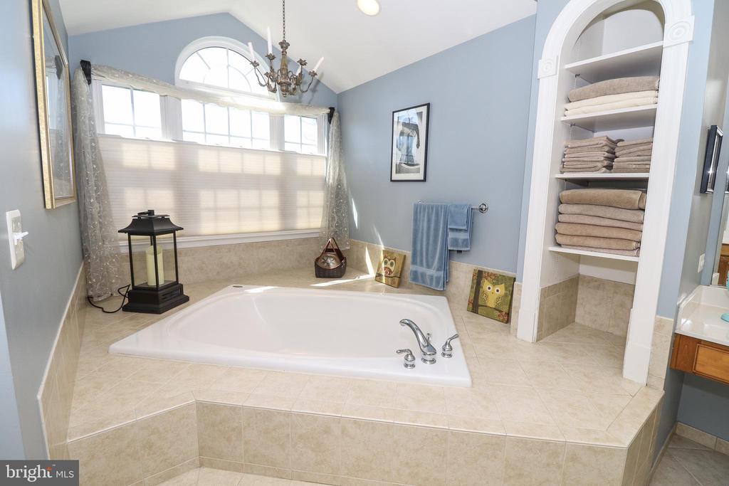 Master Bath: Large Soaking Tub - 43308 CLARECASTLE DR, CHANTILLY