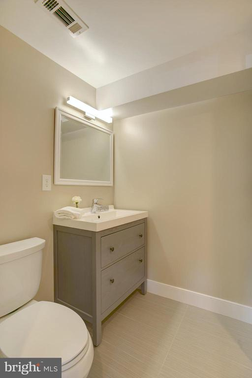 Full bath in LL offers guests privacy - 415 23RD PL NE, WASHINGTON
