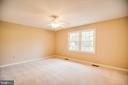 Each bedroom has a ceiling fan. - 2015 MERRYMOUNT DR, FREDERICKSBURG