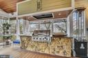 BUILT-IN STONE SURROUND GRILL WITH LOTS OF COUNTER - 2017 WOODFORD RD, VIENNA