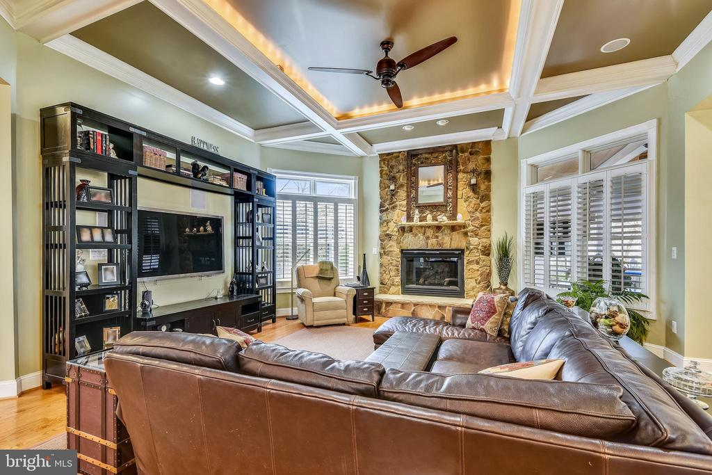 FAMILY ROOM WITH FLOOR TO CEILING FIREPLACE - 2017 WOODFORD RD, VIENNA