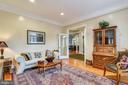 FORMAL LIVING ROOM W/CROWN MOLDING AND HARDWOOD FL - 2017 WOODFORD RD, VIENNA