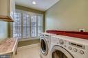 LAUNDRY ROOM W/FRONT LOADING WASHER & DRYER &SINK - 2017 WOODFORD RD, VIENNA