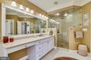 LUXURY MASTER BATH WITH FLOOR TO CEILING SHOWER - 2017 WOODFORD RD, VIENNA