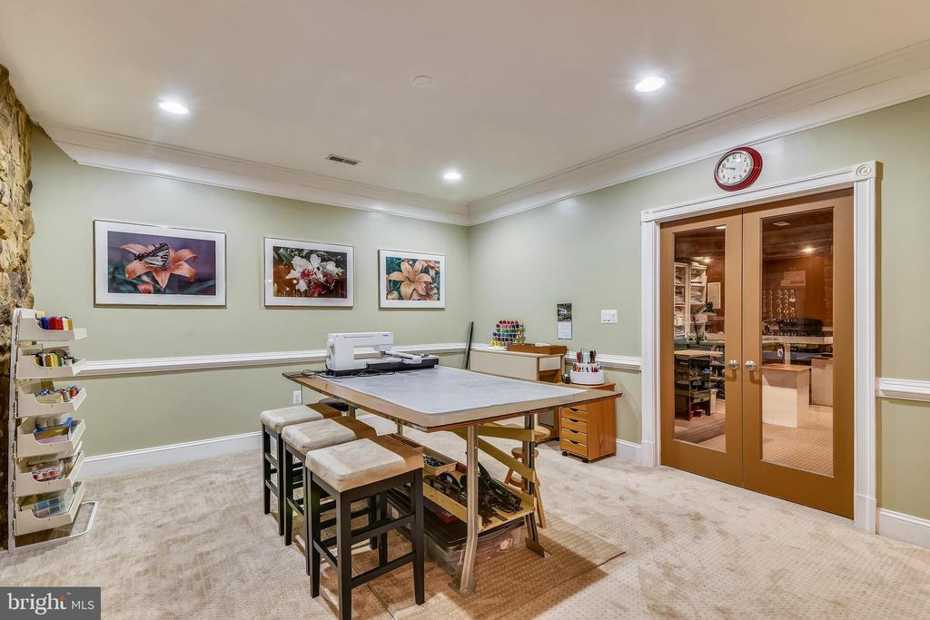 POOL TABLE AREA W/ ENTRANCE TO THE  MEDIA ROOM - 2017 WOODFORD RD, VIENNA