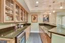WET BAR WITH REFRIGERATOR - 2017 WOODFORD RD, VIENNA