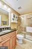 FULL BATH ADJACENT TO BEDROOM - 2017 WOODFORD RD, VIENNA