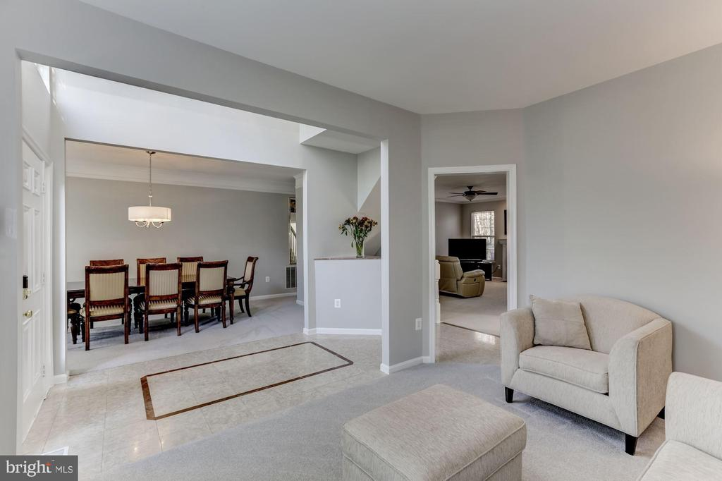 View of formal dining room from living room - 42848 CROWFOOT CT, ASHBURN