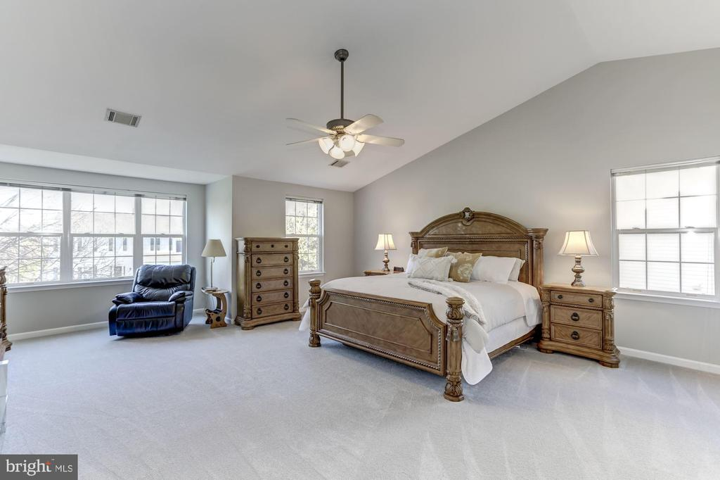 Spacious master bedroom with cathedral ceilings - 42848 CROWFOOT CT, ASHBURN