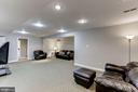 Fully finished basement family room / game room - 42848 CROWFOOT CT, ASHBURN
