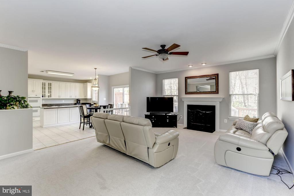 Large family room - open to eat-in kitchen space - 42848 CROWFOOT CT, ASHBURN