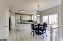 Bright, spacious kitchen and eating area - 42848 CROWFOOT CT, ASHBURN