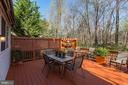 Private deck - backs to trees on corner lot - 42848 CROWFOOT CT, ASHBURN