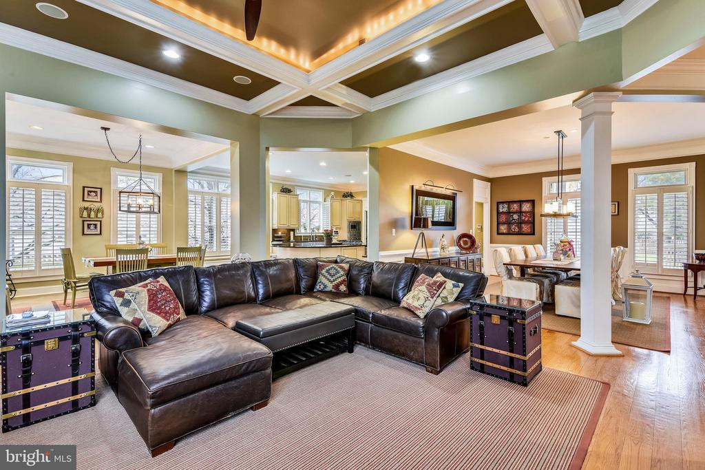 WARM AND COZY FAMILY ROOM - 2017 WOODFORD RD, VIENNA