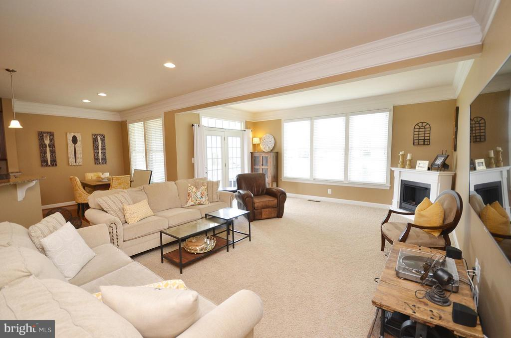 Spacious Family Room with Mouldings - 25035 AVONLEA DR, CHANTILLY