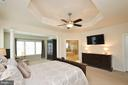 Master Bedroom with Tray Ceiling - 25035 AVONLEA DR, CHANTILLY