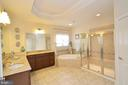 Large Luxury Master Bathroom - 25035 AVONLEA DR, CHANTILLY