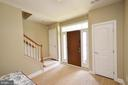 Foyer with Dual Coat Closets - 25035 AVONLEA DR, CHANTILLY