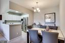 Dining Room looking into kitchen - 20281 BEECHWOOD TER #302, ASHBURN