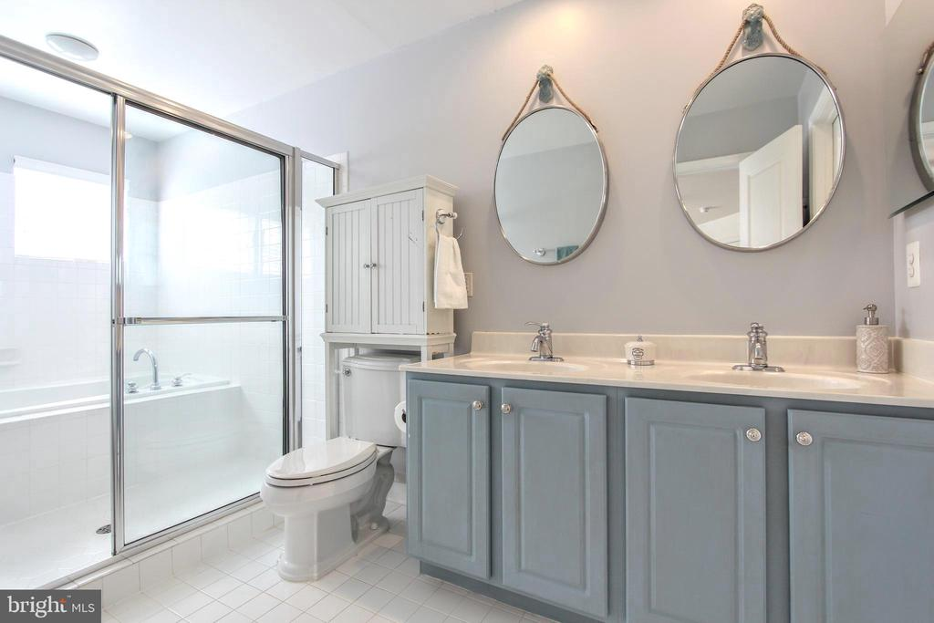 Spacious owner's bath - 20413 BOWFONDS ST, ASHBURN