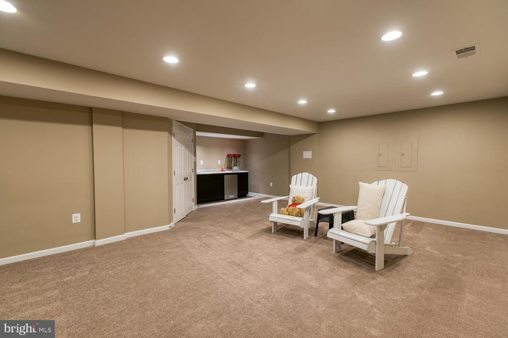 Media room with wet bar - 145 DONOVAN LN, STAFFORD