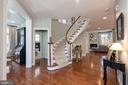 Gorgeous curved staircase with hardwoods - 23013 OLYMPIA DR, ASHBURN