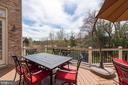 Oversized no-maintenance deck with wooded views - 23013 OLYMPIA DR, ASHBURN